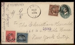 Virginia 1896 Aidyl VA DPO Cancel Helbock R5 Cover NYC 92463