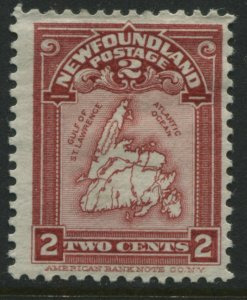 Newfoundland 1908 2 cents rose carmine mint o.g.