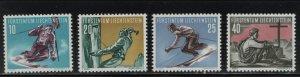 LIECHTENSTEIN 289-292 (4) Set, MNH, 1955 Sports Type