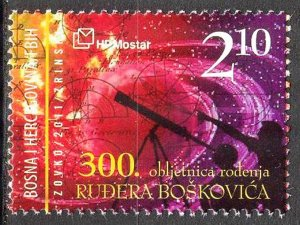 Bosnia / Croatian Post 2011 Space Astronomy R. J. Boskovic MNH