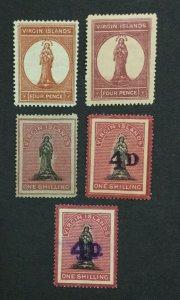 MOMEN: VIRGIN ISLANDS SG # MINT OG H LOT #198916-6265