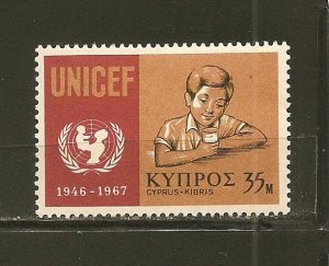 Cyprus 317 UNICEF Mint Hinged