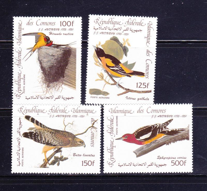 Comoro Islands C139-C142 Set MNH Birds