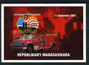 Fire Engines 9.11.2001 In Memory s/s Imperforated Mint (NH)