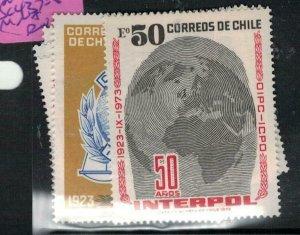 Chile Interpol SC 437-8 MNH (9exv)