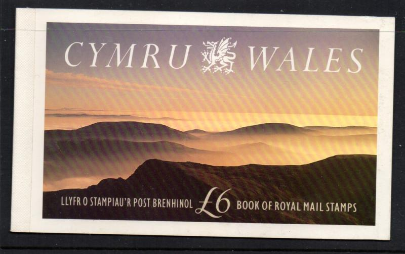 Great Britain Sc BK156 1992 Wales Prestige Booklet mint NH