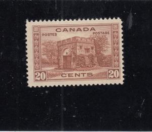CANADA # 243  VF-MH  20cts FORT GARRY GATE, WINNIPEG CAT VALUE $25