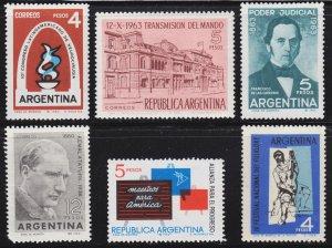 Argentina Scott 751-56 F to VF mint OG H.