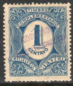 MEXICO-Monterrey 434VAR TII 1¢ GOB. REV PROV OVPT CONSTIT.. UNUSED VF (1247)