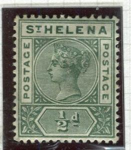 ST. HELENA; 1890-97 early QV issue Mint hinged 1/2d. value