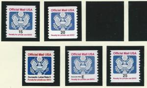 United States  mnh SC  O138 - O141