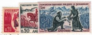 Andorra, Scott # 155-157, MNH
