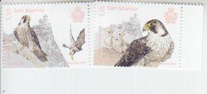 2019 San Marino Birds Europa (2) (Scott NA) MNH