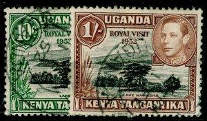 KENYA UGANDA TANGANYIKA SG163-164, COMPLETE SET, FINE USED.
