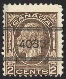 Canada Precancel Sc# 2-196 (Peterborough, ON) MNH 1932-1933 2¢ KGV Medallion