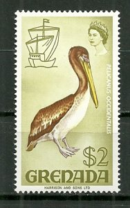 1969 Grenada 307 $2 Brown Pelican MH