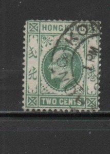 HONG KONG #88  1904  2c  KING EDWARD VII    USED F-VF  a