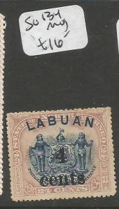 Labuan SG 134 MOG (2cwt)