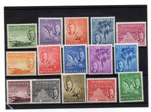 Seychelles 1952 KGVI mint LHM set SG158-172 WS22132