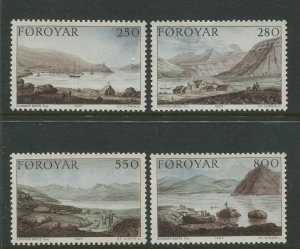 STAMP STATION PERTH Faroe Is.#121-124 Pictorial Definitive Iss. MNH 1985 CV$8.00