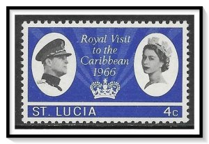 St Lucia #205 Royal Visit MH