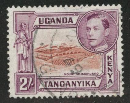 Kenya Uganda and Tanganyika KUT Scott 81 Used perf 13.5x13