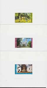 FRENCH POLYNESIA 1985 Churches set of 3 deluxe proofs.......................4068