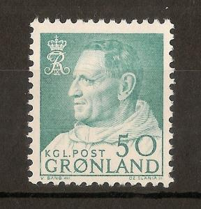 Greenland 1964 50ore Frederick SG57 MNH