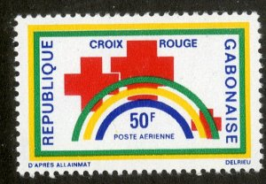 GABON C116 BIN $1.00 RED CROSS