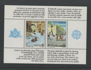 San Marino #1171  (1989 Children's Games Europa sheet) VFMNH CV $18.00