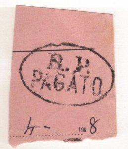 Switzerland - odd postmark R.P.PAGATO