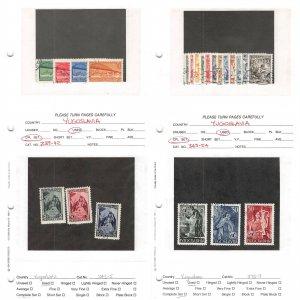 Lot of 40 Yugoslavia Used Stamps Scott Range 239 - 412 #151003 X R