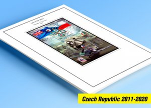 COLOR PRINTED CZECH REPUBLIC 2011-2020 STAMP ALBUM PAGES (70 illustrated pages)