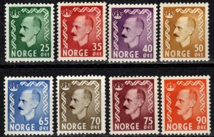 Norway #345-52 F-VF Unused  CV $38.25 (X500)