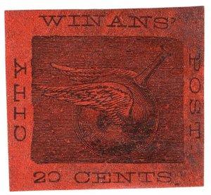 (I.B) US Local Post : Winan's City Post 20c