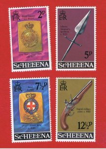 St. Helena  #267-270 MNH OG  Military Items  Free S/H