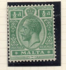 Malta 1921-22 Early Issue Fine Mint Hinged 1/2d. 321521