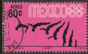 MEXICO C328, 80c Diving 3rd Pre-Olympic Set 1967. Used. VF. (677)