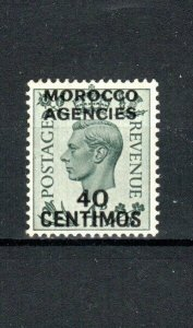 Morocco Agencies 1937-52 40c on 4d GB surcharge and opt  MH