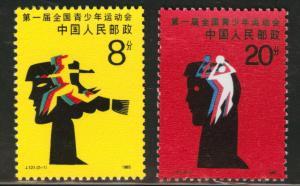 CHINA PRC Scott 2010-11  MNH** 1985 Youth Game set