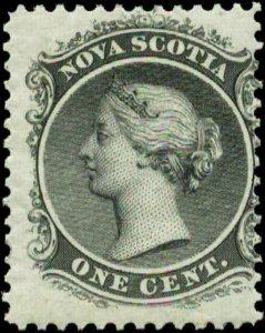 Canada, Nova Scotia  Scott #8a SG #18 Mint Hinged White Paper