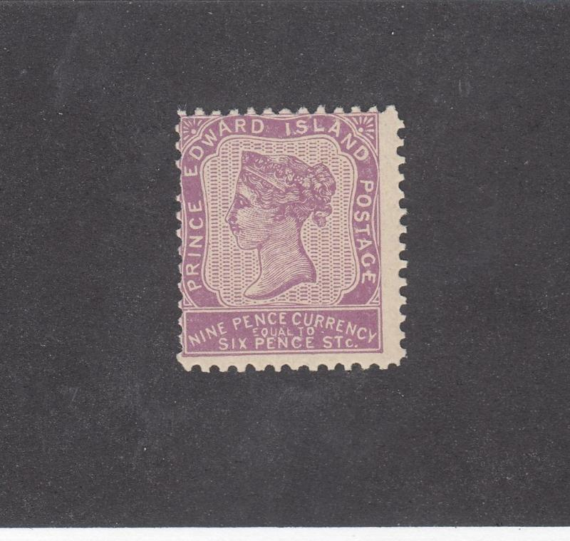 PRINCE EDWARD ISLAND # 8 MNH 9d QUEEN VICTORIA VIOLET CAT VALUE $225
