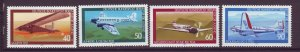 J24962 JLstamps 1979 germany berlin set mnh #9nb153-6 airplanes