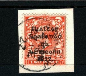 IRELAND 1922 Free State Overprints EIRE *Arklow* Co Wicklow CDS Piece MA321
