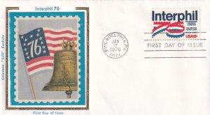 1976, INTERPHIL, Colorano Silk FDC (E12006)
