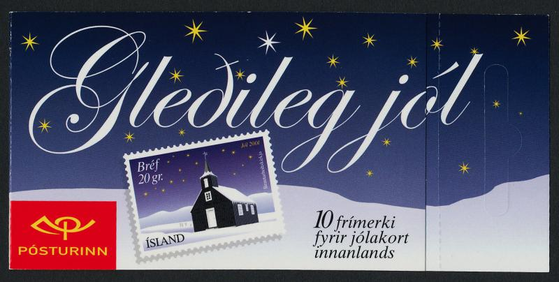 Iceland 954 Booklet MNH Christmas, Church
