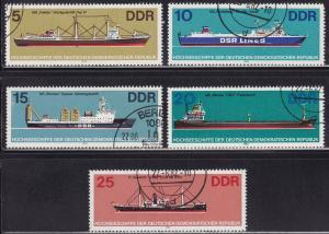 Germany DDR 2272-2276 CTO 1982 Cargo Ships