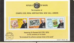 NAURA 197a SOUVENIR SHEET MNH 2014 SCOTT CATALOGUE VALUE $0.90