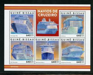 GUINEA BISSAU 2019 CRUISE SHIPS SHEET  MINT NEVER HINGED