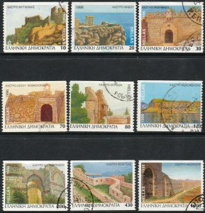 GREECE 1843A-1851A CASTLES, PERFORATED VERTICALLY. USED. F-VF. (394)